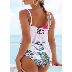 Leaves Strap Fresh Tankinis Swimsuits