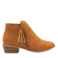 Vrouwen Suede Chunky Heel Laarzen Enkel Laarzen met Tassel schoenen
