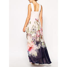 Print/Floral Sleeveless A-line Casual/Party/Vacation Maxi Dresses