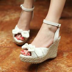 Femmes Suède Talon compensé Escarpins Compensée avec Boucle chaussures