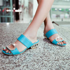 Women's PU Stiletto Heel Sandals Peep Toe With Beading shoes