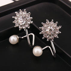 Beautiful Alloy With Rhinestone Girls' Earrings