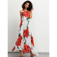 Print/Floral Sleeveless A-line Maxi Casual/Vacation Dresses