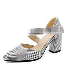 Dla kobiet Skóra ekologiczna Obcas Slupek Czólenka Zakryte Palce Muszkieterki obuwie