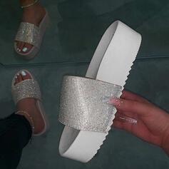 Kvinnor PU Flat Heel Tofflor skor