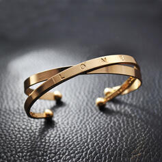 Fashionable Gold Plated Bracelets (Set of 2)