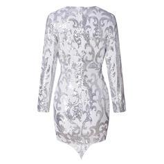 Print Long Sleeves Bodycon Above Knee Party/Elegant Dresses