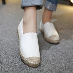 De mujer PU Tacón plano Planos Cerrados con Banda elástica zapatos