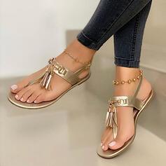Сандалі Низька підошва взуття на короткій шпильці з Кисточки з ниток взуття