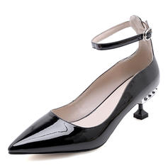 Women's Patent Leather Stiletto Heel Pumps With Buckle shoes