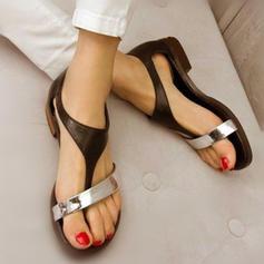Dla kobiet Skóra ekologiczna Płaski Obcas Sandały Plaskie obuwie