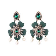 Con estilo Diamantes de imitación De mujer Pendientes de la manera