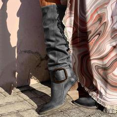 Γυναίκες PU Χοντρό φτέρνα Γοβάκια Μπότες Γόβες υψηλές μπότες Με Πόρπη παπούτσια