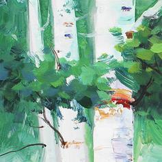 Estilo Moderno Rectángulo Pinturas florales / botánicas