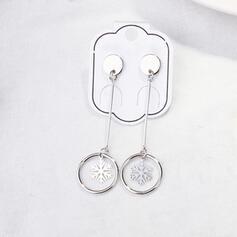 Snowflake Alloy Women's Earrings 2 PCS