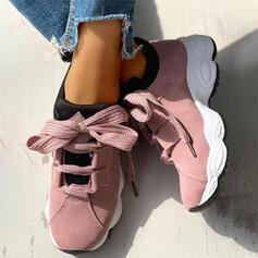 Kvinnor PU Fritids utomhus med Bandage skor