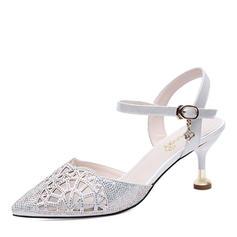 Women's Leatherette Stiletto Heel Peep Toe Sandals Slingbacks