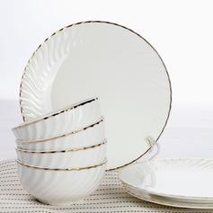 Classic Porcelain Dinnerware Sets (Set of 2)