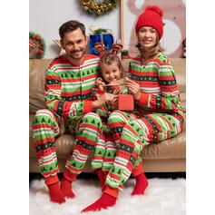 Letter Print Family Matching Christmas Pajamas Pajamas