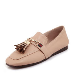 Donna PVC Senza tacco Ballerine con Catenina Nappa scarpe