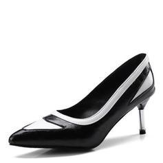 Dla kobiet Skóra ekologiczna Obcas Stiletto Czólenka Zakryte Palce Z Łączona obuwie