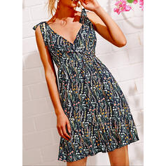 Print/Floral Sleeveless A-line Above Knee Sexy/Casual/Vacation Dresses