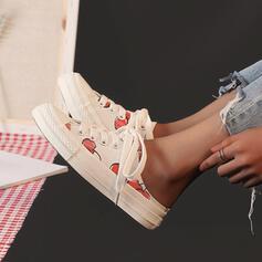 Frauen Leinwand Lässige Kleidung mit Zuschnüren Schuhe