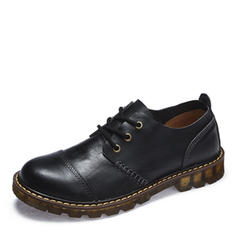 Cap Toes Lace-up Casual Work Real Leather Men's Men's Oxfords
