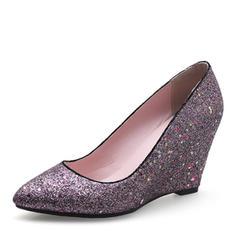Női Csillám Ékelt sarkú Ékelt szandál -Val Egyéb cipő
