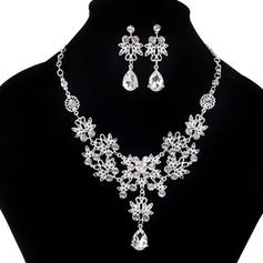 Exquisite Alloy Rhinestones With Rhinestone Jewelry Sets