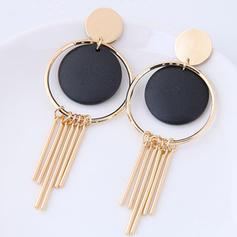 Unique Alloy Wood Women's Fashion Earrings (Set of 2)