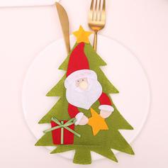 vrolijk kerstfeest Sneeuwman Rendier de kerstman Niet-geweven stof Servies Cover