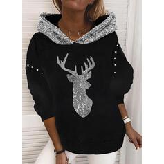 pailletter Lange ærmer Jule sweatshirt