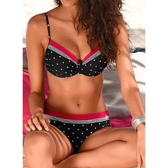 Dot Patchwork Strap Sexy Bikinis Swimsuits