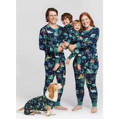 Cartoon Print Familie Matchende Jul Pyjamas