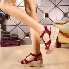 Mulheres Camurça Plataforma com Fivela sapatos