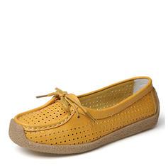 Femmes Similicuir Talon plat Chaussures plates Bout fermé avec Ouvertes chaussures