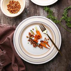 Round Porcelain Dinner Plates