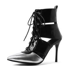Femmes PU Talon stiletto Escarpins avec Dentelle chaussures