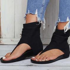 Donna Similpelle Senza tacco Sandalo Ballerine scarpe