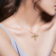 Fashionable Gold Plated Stainless Steel Necklaces Earrings (Set of 2)