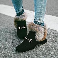 Frauen Veloursleder Stämmiger Absatz Absatzschuhe Stiefelette mit Pelz Andere Schuhe