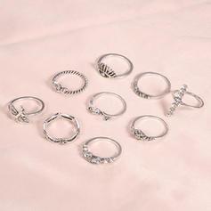 Egzotikus Ötvözet Női Gyűrűk (9-es készlet)