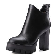 Femmes Similicuir Talon bottier Escarpins Plateforme Bout fermé Bottes Bottines chaussures