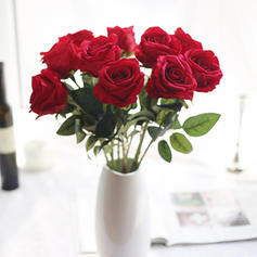 """20.47""""(Około.52cm) Róże Jedwab Jedwabne Kwiaty (Zestaw 3)"""