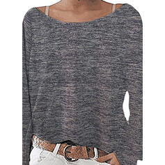 Solid Boat Neck Knit Tops