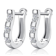 Chic Alliage Strass Dames Boucles d'oreille de mode