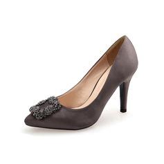 Donna Camoscio Tacco a spillo Stiletto con Strass scarpe