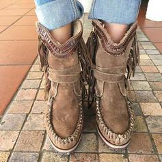 Women's PU Flat Heel Boots With Tassel shoes
