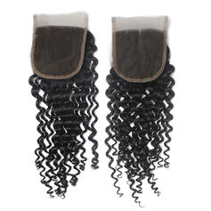 "4""*4"" 4A Curly Human Hair Closure (Sold in a single piece)"